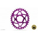 Absolute Black - Sram OVAL Direct Mount BOOST148 (3mm offset) - Purple / Mov