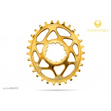 Absolute Black - Sram OVAL Direct Mount GXP (6mm offset) / GOLD