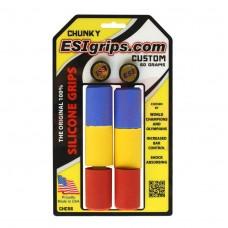 ESI Grips Chunky Tricolor - mansoane silicon